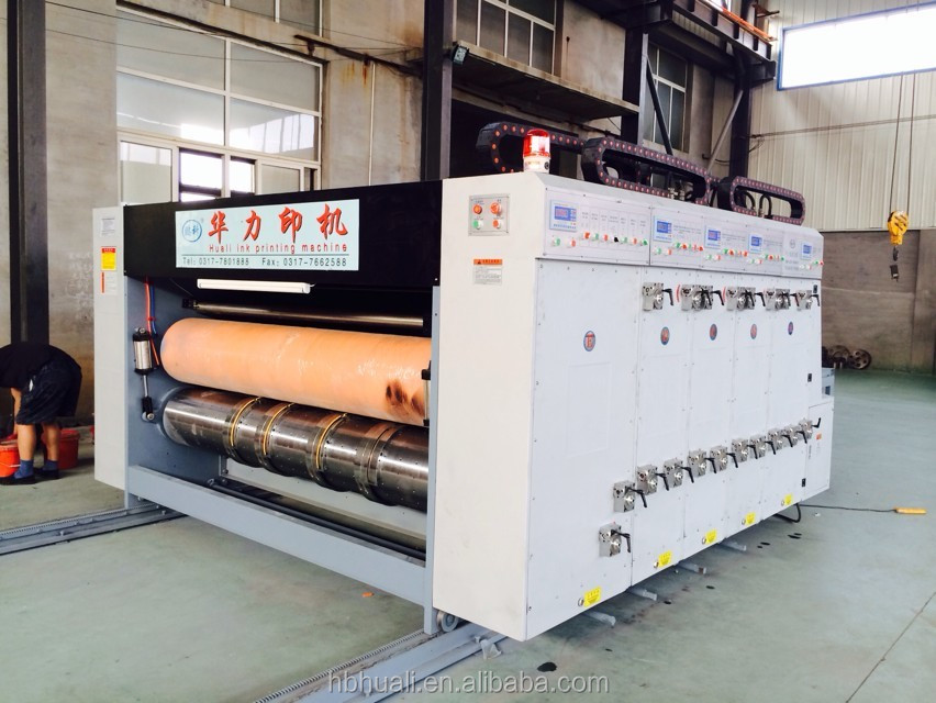Corrugated flexo printing machine/ corrugated board making machine / carton box manufacturer CE & ISO9001