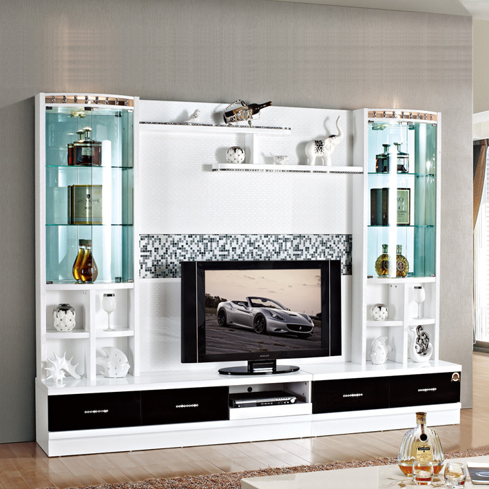 Marvelous Hot Selling Wall Units Designs In Living Room 3D5# Wood Led Tv Wall Unit Part 26