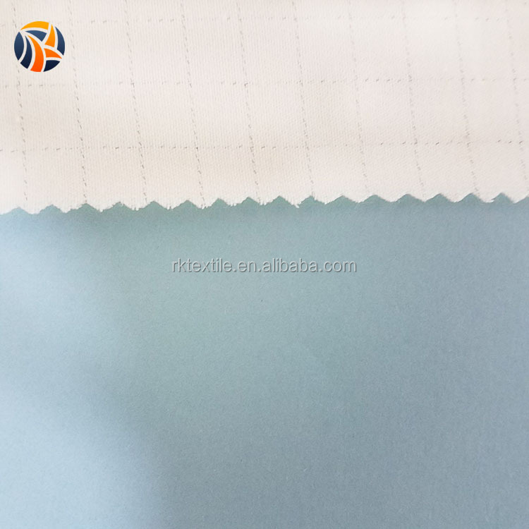 Anti-static poplin woven poly cotton canvas fabric