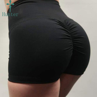 Free Sample Athletic Workout Wholesale Women Running Shorts High Waist Shorts