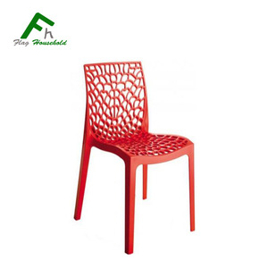 Chaise Design Modern Colorful Stacking PP Plastic Dining Chairs