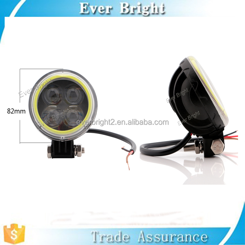Alibaba China White 4 LED 12V Motorcycle Projector Lights with Cob Angel Eye Rings
