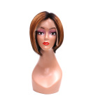 Factory Wholesale Cheap price short full lace wig human hair color hair