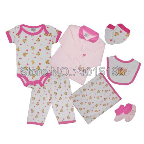 0c52460df761d Get Quotations · 7pcs lot roupas meninas Infant clothing cheap newborn baby  clothing set baby girl clothes baby