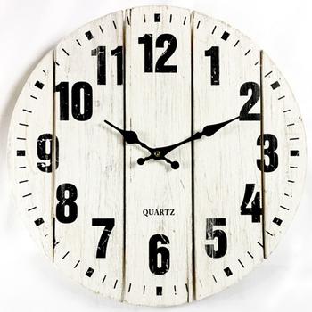 Wall Clock Large Extra Rustic Mdf Art