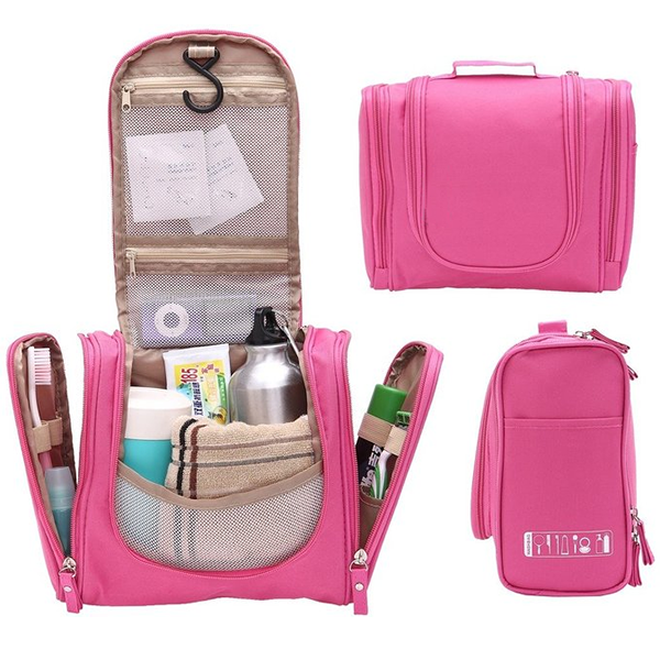 New Fashion Wholesale Cosmetic Bags Cases Makeup Travel Hanging Toiletry Bag For Girls