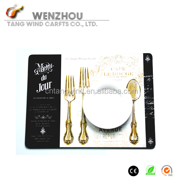 custom paper placemats for restaurants