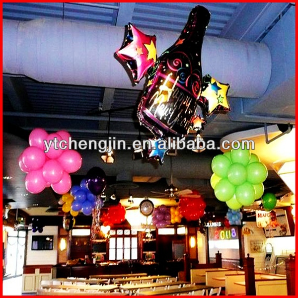 Red black elegant birthday party stage decorations/Balloon
