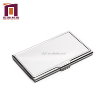Ultra-thin Aluminum Silver business metal sim mens card case holder