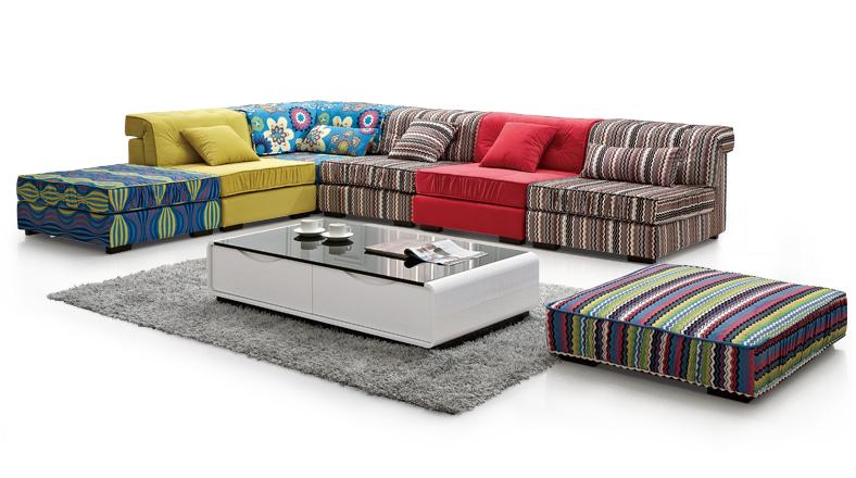 Indiano caldo vendita colorati divano componibile divani - Divani componibili colorati ...