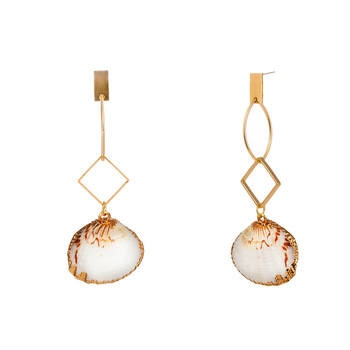 Fancy shell jewelry womens natural shell earrings