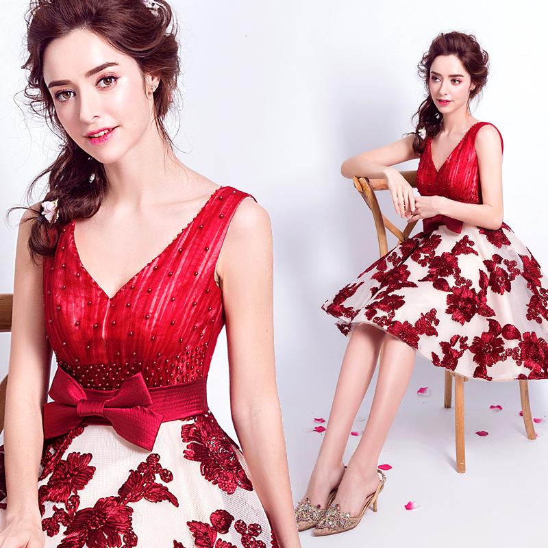 Venta al por mayor vestido novia encaje corto barato-Compre online ...
