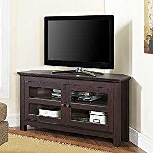 Get Quotations Tv Console Stands 44 Espresso Wood Corner Furniture Storage Flat Television Cabinet With Mounts Plasma