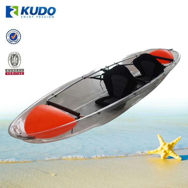 kudo clear kayak plastic transparent canoe for sale