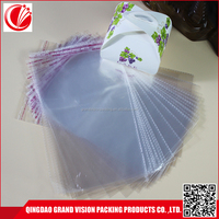 Qingdao plastic manufacturer sealable plastic bopp adhesive bag for cd dvd