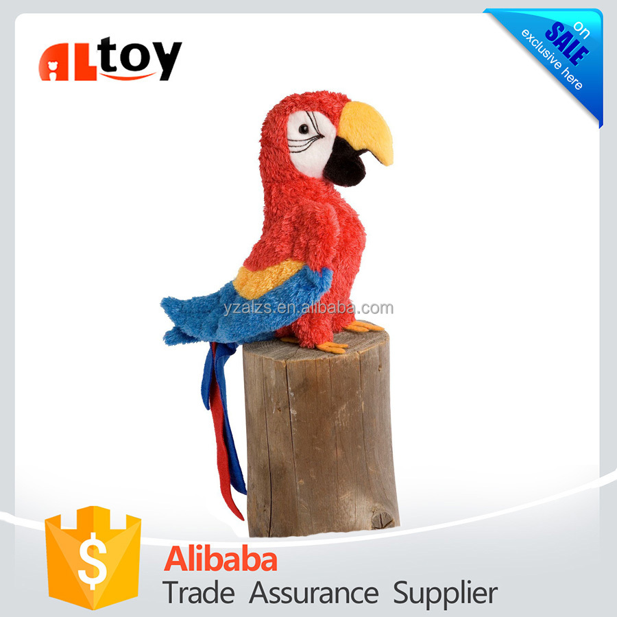 Nice Animal Toy Plush Red Parrot by Douglas Toys