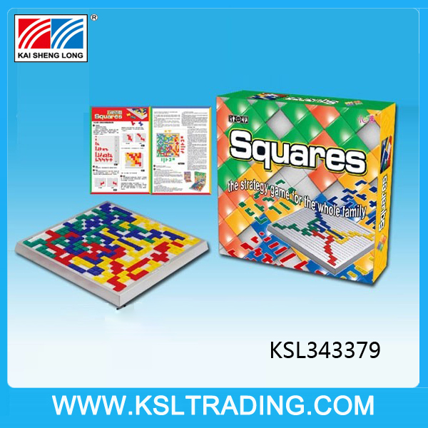 Wholesale toy educational squares toy game for children and adult