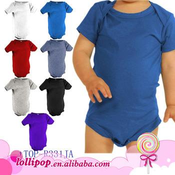 06aa19947 Bulk Wholesale Kids Clothing Organic Cotton Plain Solid Romper ...