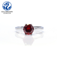 Factory sale solitaire stainless steel jewelry main material artificial ruby jewelry