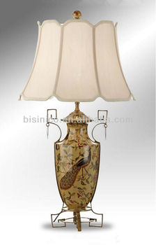 Exquisite chinese porcelain study desk lamphand painted porcelain exquisite chinese porcelain study desk lamphand painted porcelain table lamp with shade home mozeypictures Gallery