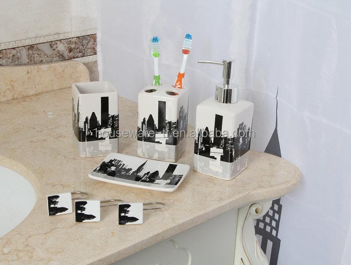 Kate Spade New York Candy Stripe Lotion Dispenser Bathroom