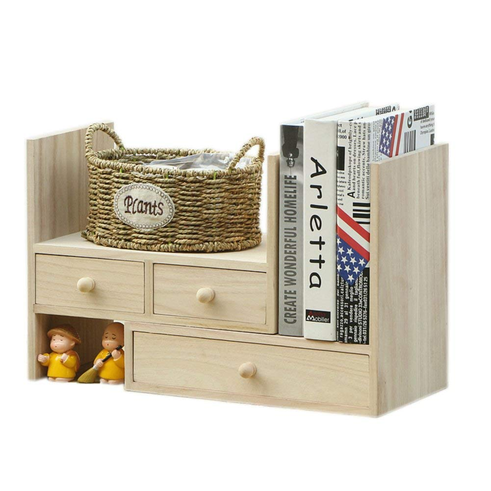 Rart Wooden Drawer Desk Organizer,Desk Tidy Stationary Cabinet Large Capacity Office Desktop Organizer-Keeping Your Desk Table More Tidy-A 34x20x29cm(13x8x11inch)