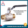 brass float ball valve dn15-dn50 forged high quality with stainless steel handle