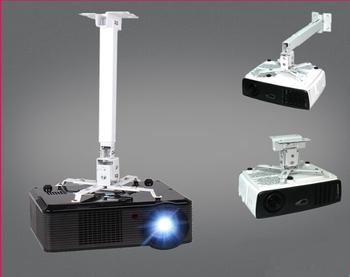360 Degrees Swivel Motorized Projector Ceiling Wall Mount Bracket Retractable