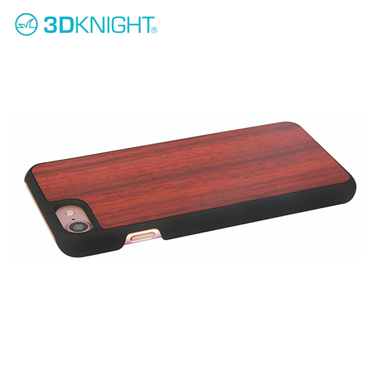 Hot Sale Real Wooden Hard Blank Rose Wood Phone Case Cover For iPhone 8