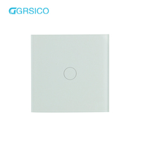 Compatible with Alexa and Google Home 1 Gang 2 way Wall Led Light Switch Supports Wireless WIFI and Crystal Glass Touch Switches