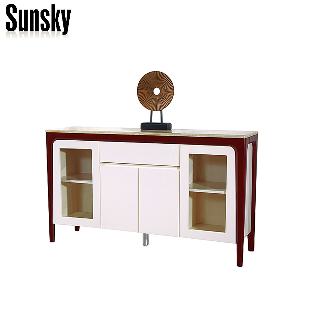 New design modern TV stand marble and wooden TV Cabinet SK1635F