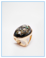 Wholesale Yiwu Europe and the United States big lady personality trend exaggerated 18K gold shell female ring