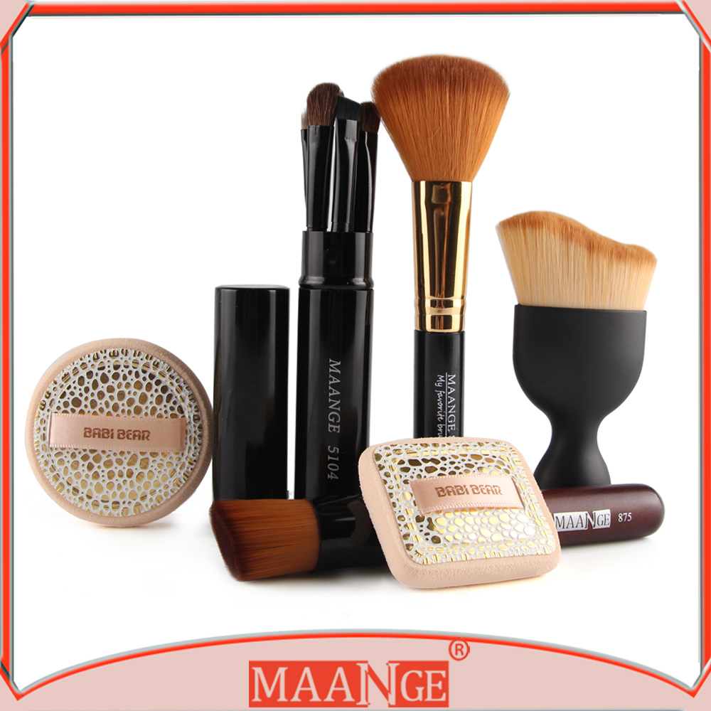 MAANGE cosmetische bladerdeeg contour poeder make kit brush set pincel maquiagem