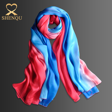 China manufacturer shenqu spring winter new design digital print custom design silk scarf