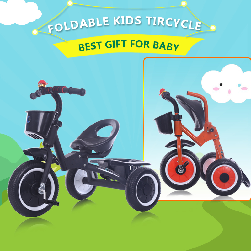 2016 big wheel kids foldable tricycle for bebee factory wholesale baby toy smart trike