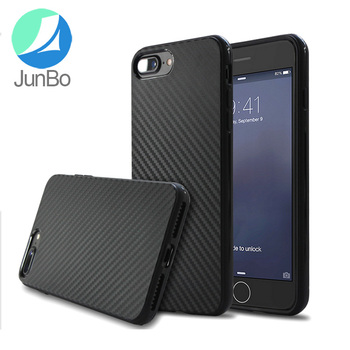 New products fashionable carbon fiber pattern shockproof case cover for iphone 7 plus