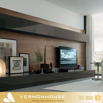 Living Room New Model Wooden Tv Cabinet Designs With Showcase