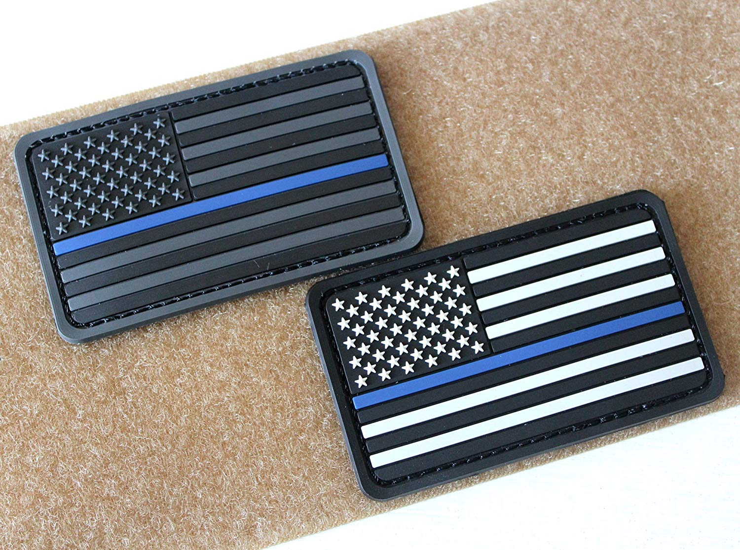 Buy US Flag Thin Red Line Velcro Patch for Firefighters and