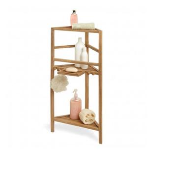 Bathroom Wooden Shower Corner Shelf