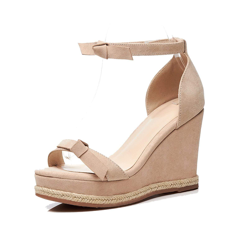 105d234b6ee813 Show-Show-Fashion slides-sandals Wedges Women Sandals Platform Sandals  Black Super high