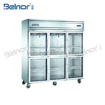 6 Door Commercial Refrigerator Freezerfood Fridge Freezer With