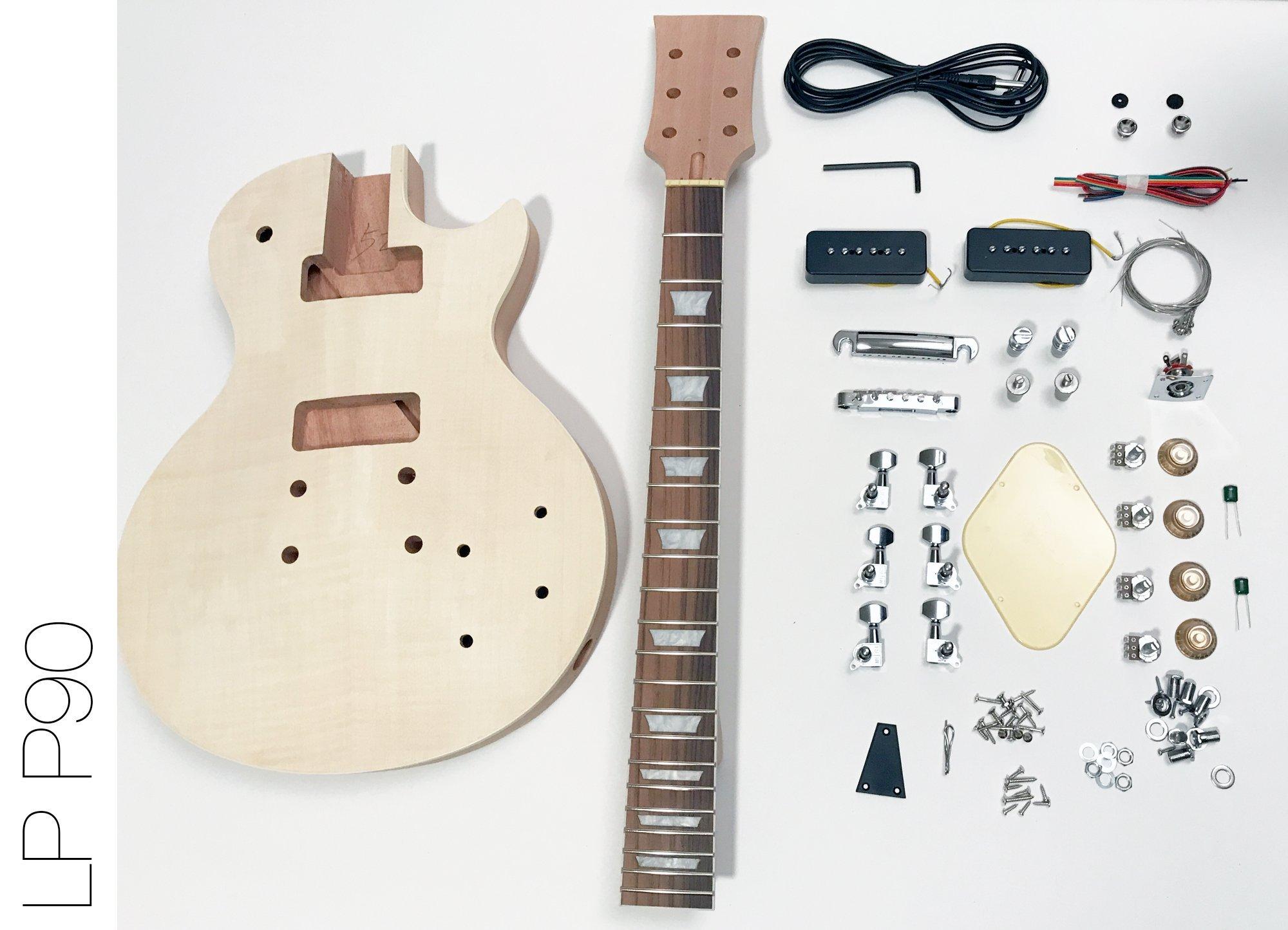 Blesiya Pack of 2 P90 Neck/&Bridge Humbucker Pickups 50//52mm Pole Spacing for LP Electric Guitar Parts Accessories