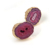 Fashion Amethyst Druzy Natural Stone Gold Plated Stud Earring