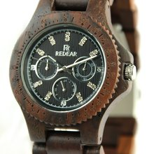 Redear Bewell watch Cost-effective design wholesale Wood watch custom logo fashion leather wrist watch fashion Luxury wooden