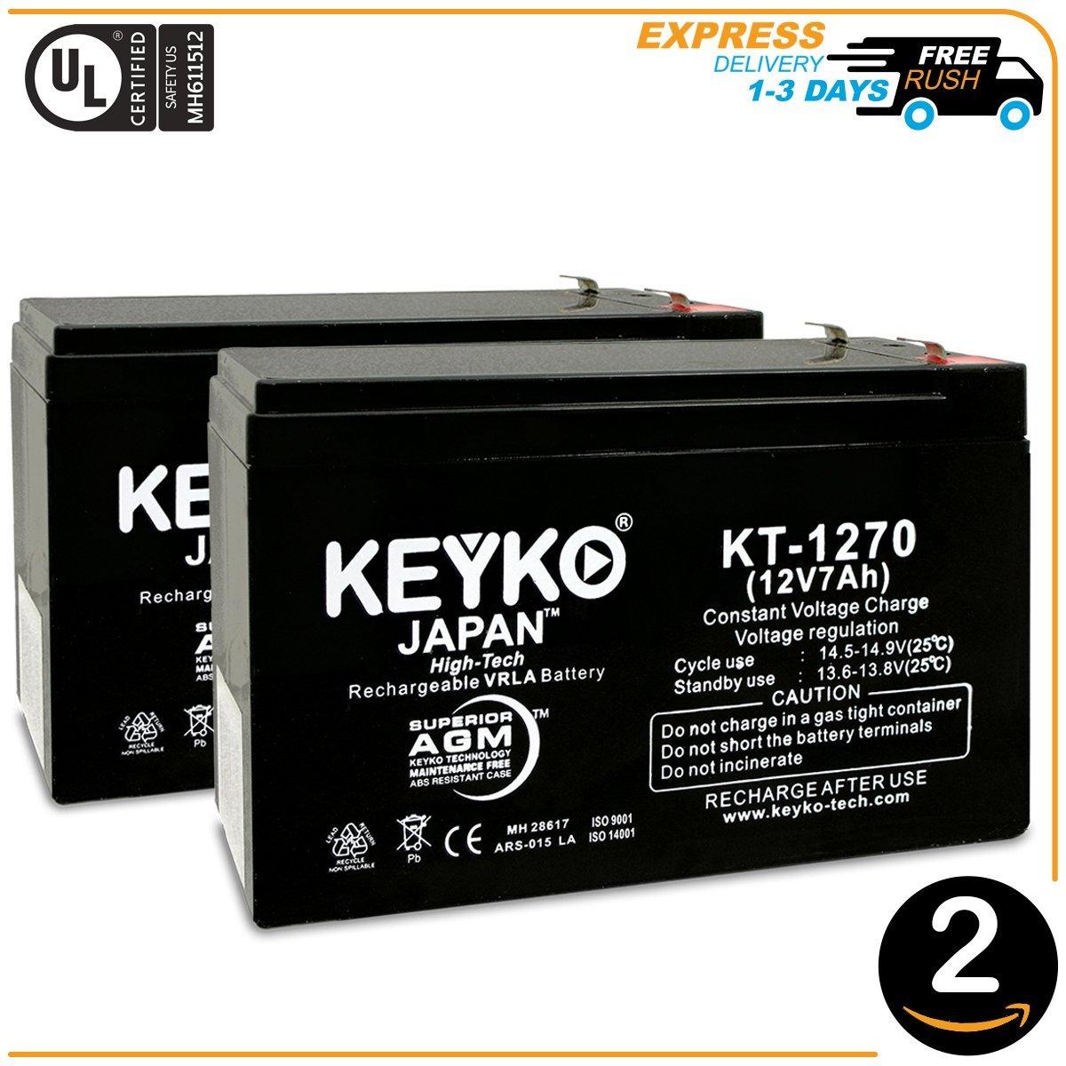 W//F-1 Terminal 12V 7.5 Sealed Lead Acid SLA Battery Genuine POWERSTAR Replaces KT-1270