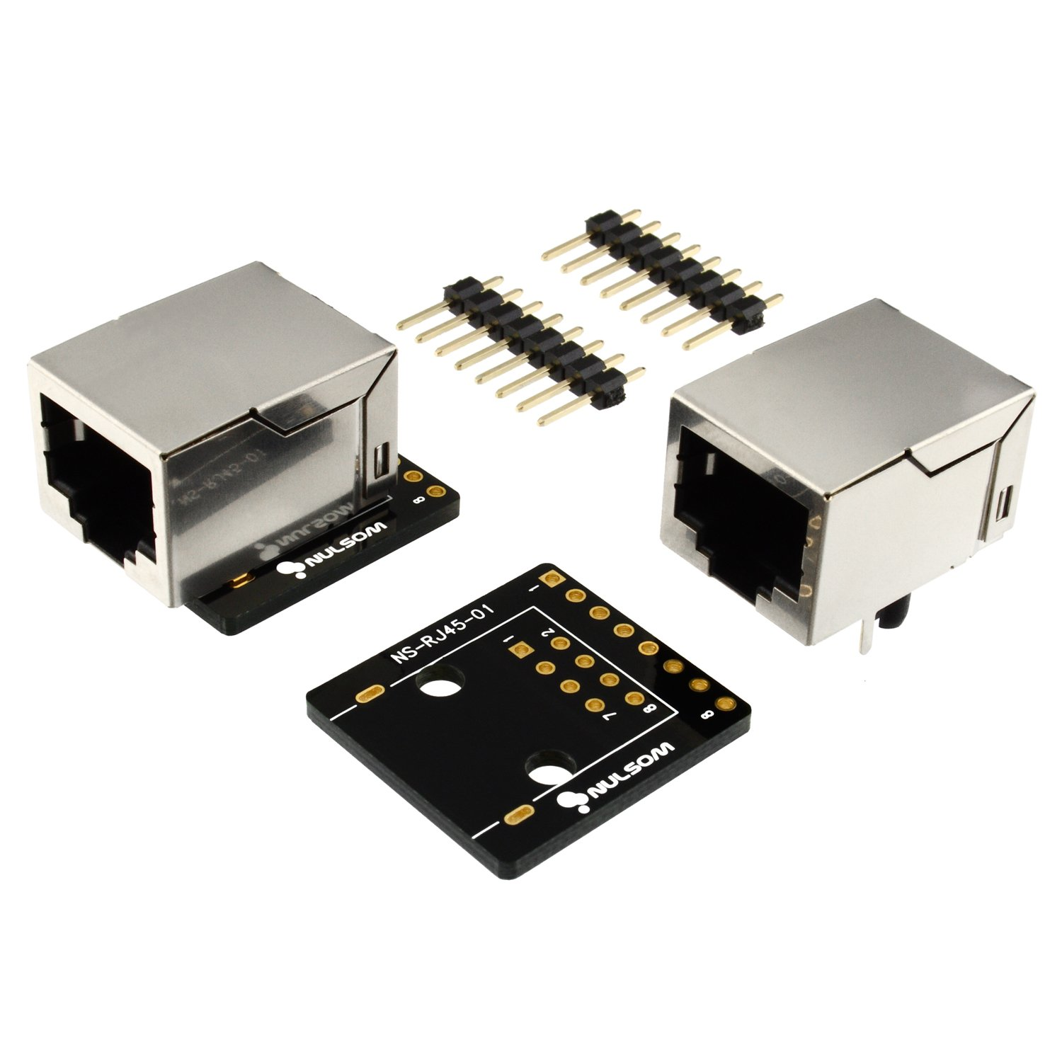 2 Pcs RJ45 8-pin Connector (8P8C) and Breakout Board Kit for Ethernet DMX-512 RS-485 RS-422 RS-232 (Unassambled)