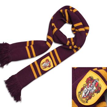 0a3d490718b1 En gros Mode écharpe Harry Potter écharpe Gryffondor Collection Avec Badge  Personnalité Cosplay Écharpes ...