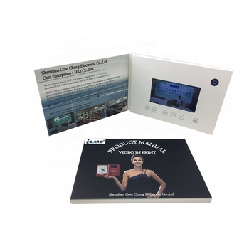 HOT SELLING 5inch A5 Video Brochure/Video Mailer/Video Magazine For Business Promotion
