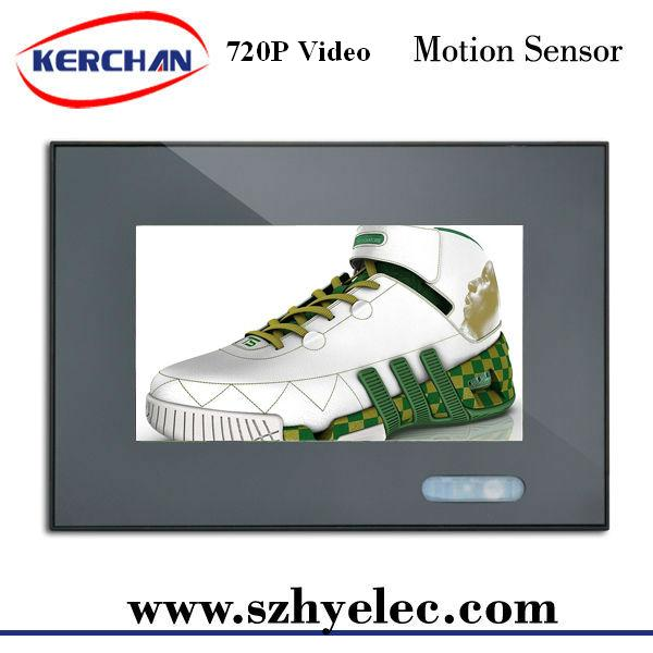 Kerchan New 7 inch motion activated ad <strong>tv</strong> with Low power consumption