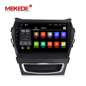 MEKEDE 9INCH Android 7.1 4G LTE quad core car audio system For HYUNDAI IX45 2013 SANTA FE santafe with 2+16GB android car dvd